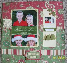 Priority Mail - Scrapbook.com - Wonderful holiday page. #scrapbooking #layout #holidays #makingmemories