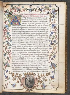 First page of an Italian illuminated manuscript of Cicero's