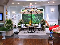 Love This Patio From The Nate Show. Fun Umbrella Is From Pier 1.