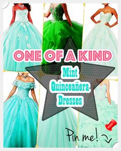 Mint Quinceanera dress shopping may be one of the worst and best parts of event preparation. To keep your sanity at bay, have a look at our tips, which includes style, size. Mint Quinceanera Dresses, Fantasy Party, Strapless Dress Formal, Formal Dresses, Young Female, Ball Gowns, Fashion Dresses, Dress Up, Dress Ideas