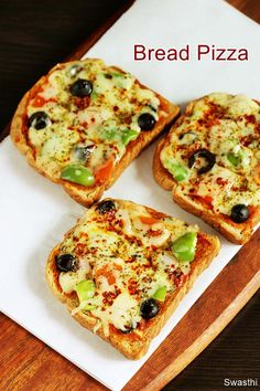 Bread pizza recipe a quick bread snack recipe with video. Making this simple delicious bread pizza is a great fun and is a favorite with my kids at home Bread Snacks Recipe, Pizza Recipes, Beef Recipes, Appetizer Recipes, Vegetarian Recipes, Snack Recipes, Cooking Recipes, Bread Pizza Recipe Indian, Snacks With Bread