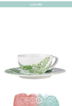 Taza en porcelana decorada Palm, 6,95 €