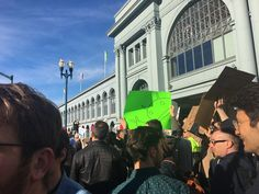 Google's Sergey Brin and Sundar Pichai speak at company immigration ban rally while thousands of Googlers take to the streets (GOOG GOOGL)