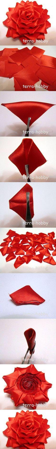 Diy Beautiful Red Flower | DIY & Crafts Tutorials