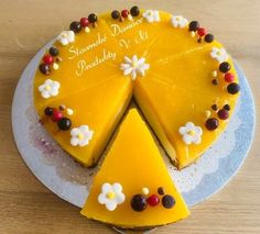 Mango Cheesecake, Cheesecake Recipes, Cheesecakes, Food And Drink, Birthday Cake, Pudding, Sweets, Desserts, Tailgate Desserts