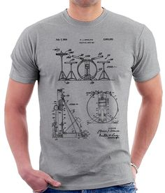 1aaaea46b Drum Set Patent Print T Shirt, Patent Prints, Patent Art, T Shirt Vintage,  Blueprint Art