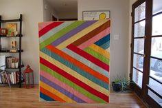 Stripey quilt. love this design!