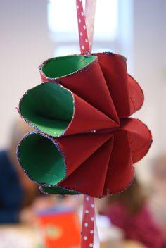 noflik nifelje: kersterren maken met de peuters (van wc-rollen!)