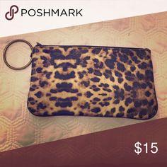 Wristlet Cute cheetah wristlet with medal handle. Bags Mini Bags