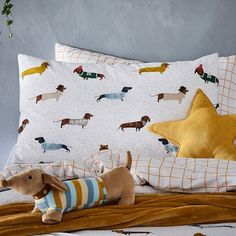Jr Bed Quilt Cover Set Adairs Kids Pastel Safari COT Leopard Print
