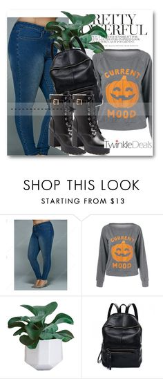 """""""Halloween!!"""" by dianagrigoryan ❤ liked on Polyvore featuring Current Mood, Halloween, autumn and twinkledeals"""