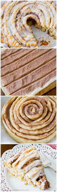 How To Giant Cinnamon Roll Cake