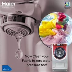 With innovative NZP #Technology, #Haier #WashingMachine can work up to .001 Mpa water pressure. Hence your #wash process doesn't stops due to low #water #pressure.   Get assured gifts Offline, mega prizes online. #HaierBonanza #Laundry #HaierIndia #Appliances #Clothes