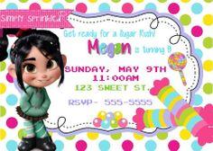 Sugar Rush Birthday Invitation & Thank You Card  -DIY Printable by Simply Sprinkled