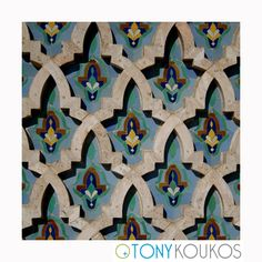 wood carving, repetition, ethnic, interior, Morocco, paint, art, photography, design, travel, Tony Koukos