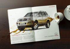 Landcruiser Coffee paper ad Toyota