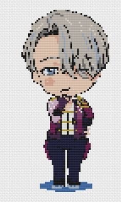 Yuri on Ice Viktor Cross Stitch Pattern by PutAPinInItDesign