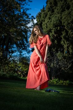 Hope Louise by Peter Berzanskis Wuthering Heights, Grass, Editorial, Gown, Photoshoot, Hands, Orange, Vintage, Dresses