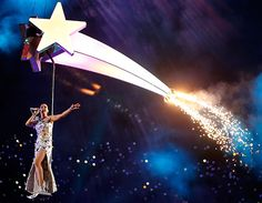 Katy Perry Performs at Halftime during the Super Bowl -Best Halftime performance I've seen!