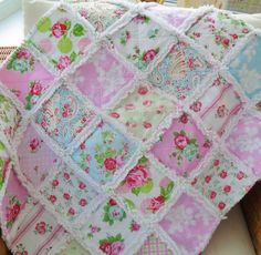 handmade patchwork cot quilt, rag quilt, baby blanket, lap quilt, ready to post, by MaisyDaisyCrafts on Etsy https://www.etsy.com/listing/206856408/handmade-patchwork-cot-quilt-rag-quilt