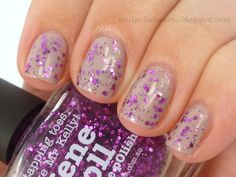 piCture pOlish 'Gene Doll' layered mani creation by Nail Polish Anon!  Buy on-line now:  www.picturepolish.com.au