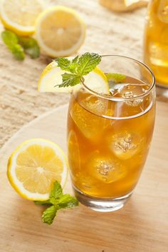 For a refreshing twist on iced tea, try this recipe for an Arnold Palmer drink (non-alcoholic).