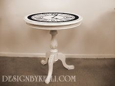 #Vinyl Decal Designs, #Clock table