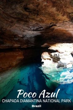 Poco Azul is just one of the many spectacular sights Chapada Diamantina National Park in Brazil has to offer. Read more about Chapada Diamantina on the blog today