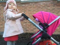 Vienna loves her new dolls Pram #iCandy @babygosling
