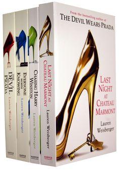 Lauren Weisberger 4 Books Set The Devil Wears Prada (Lauren Weisberger) (Last Night At Chateau Marmont, Chasing Harry Winston, Everyone Worth Knowing, The Devil Wears Prada)