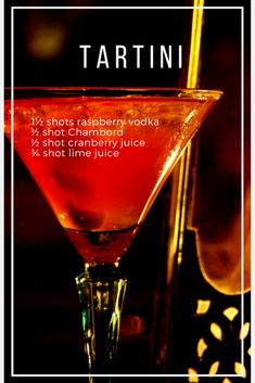 Carrie sipped a Tartini while at a party with Stanford in Series 2, Episode 4 of Sex in the City. We can't imagine Cynthia Nixon sipping one now as she goes for New York Governor, but we bet she'll need one at some point! You'll need: ¾ shots Lime Juice ½ shots Cranberry Juice ½ shots Chambord 1½ shots Raspberry Vodka Method In a cocktail shaker with ice, add all the ingredients and shake until well combined and chilled. Strain into a chilled cocktail glass and serve. Cheers! https://makem
