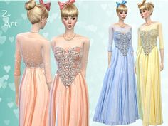 Sewn from a fairy for a wonderful night in the ballroom :D  Found in TSR Category 'Sims 4 Female Formal'