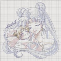 Point de croix Sailor Moon