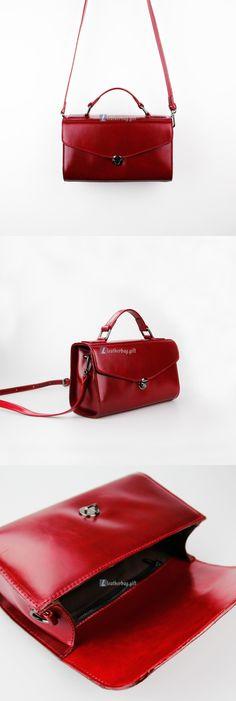 $180 Red Leather Shoulder Bags Ladies Handbag