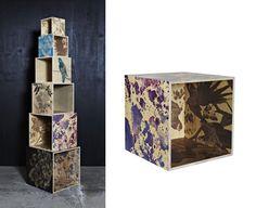 Wooden Cube  Bonnie & Neil $365