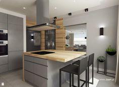 Kuchnia w szarości i drewnie - zdjęcie od Daart - Kuchnia - Styl Nowoczesny - Daart