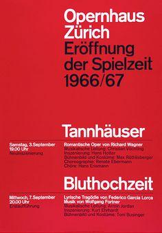 By Josef Müller–Brockmann, 1966, 1967, tannhäuser, buthochzeit