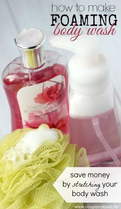 DIY Foaming Body Wash  - this is much easier than you think to make. All you need is body wash, water, and a foaming soap dispenser. Your body wash will last much longer when you have foaming body wash. This is perfect for kids!