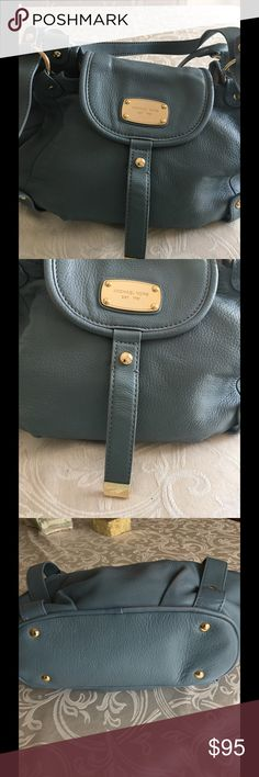 MICHAEL KORS TOTE Michael Kors Rhea Pale Blue Leather Tote Bag Leather with Gold Tone Hardware is  gorgeous Two top handles.  Interior slip pockets and one smaller zip pocket. Michael Kors Bags Totes