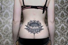 Lotus flower tramp stamp done right