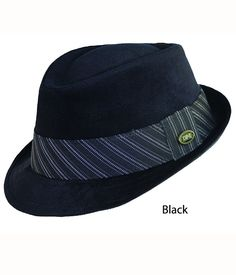 DPC Black/Charcoal Fedora. Essential everyday hat. (Made in China)