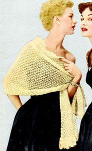 This looks like an easy vintage pattern; I think it would look nice in modern colors such as taupe or mocha