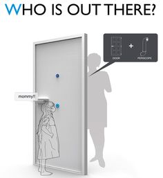 periscope door, so kids can see who is at the door.