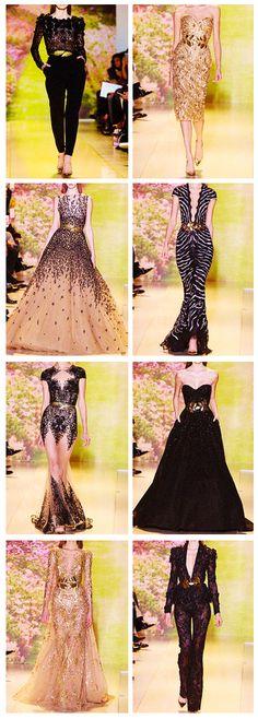 Zuhair Murad Paris Fashion Week 2014 - BLACK (+ gold)