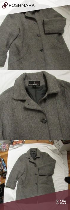 London Fog Wool Peacoat Gray London Fog Wool peacoat in gray. Outside is in great condition. ** inside lining on the back has a tear right down the middle that is roughly 8 inches long. it is not noticeable at all when worn. Does not compromise the jacket in any way. ** London Fog Jackets & Coats Pea Coats