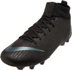 13387e54f Nike Mercurial Superfly 6 Academy Soccer Cleats - Black Black Youth Soccer  Shoes