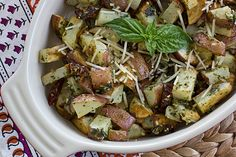 Roasted Pesto Potato Hash Recipe (Note: omit Parmesan)