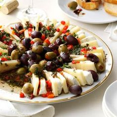 Marinated Olive and Cheese Ring- http://www.tasteofhome.com/recipes/marinated-olive---cheese-ring