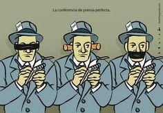 Para algunos poderes, esta sería la rueda de prensa perfecta #periodismo #libertaddeprensa