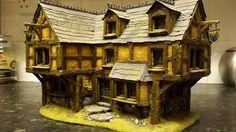 House - scratch-built wargaming terrain by Leo Robinson